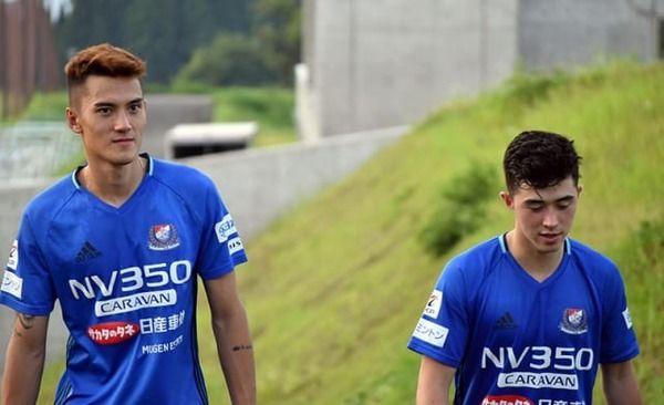 【サプライズ】サイ(彩)・ゴダード&篠塚一平が横浜F・マリノスのキャンプに参加中!