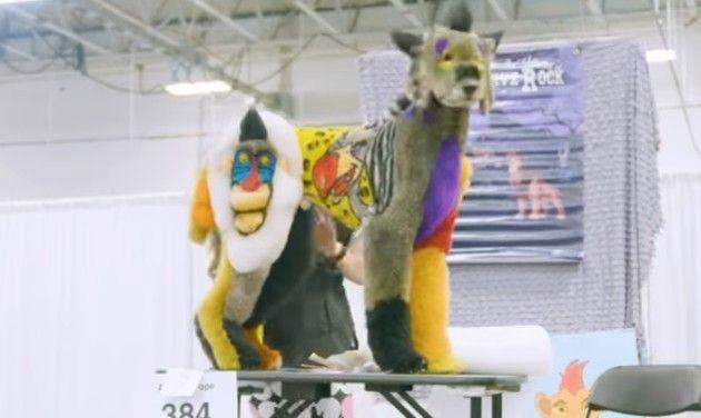 【動画】 最近のドッグショーがヤバすぎるww!!キマイラ的コスプレ。