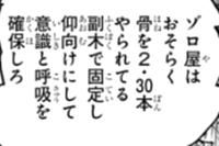 尾田栄一郎 ワンピース 1012話 ゾロ 30本 骨折