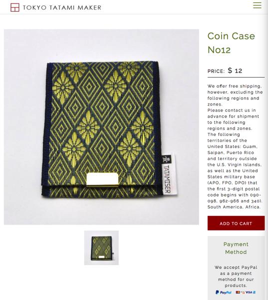 Coin Case tatami