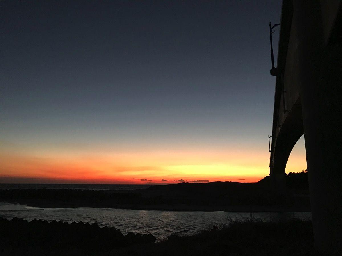 遠州の夕日