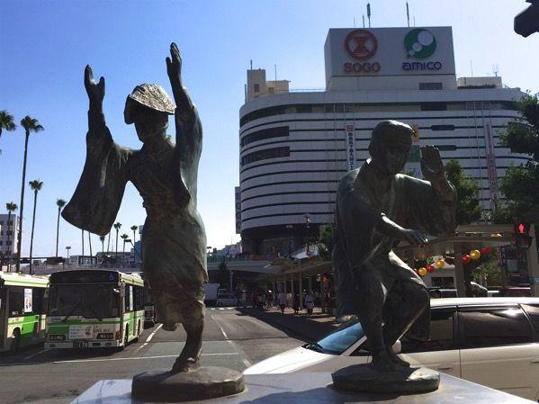 阿波おどりの銅像