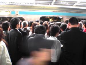 ここだけ満員電車