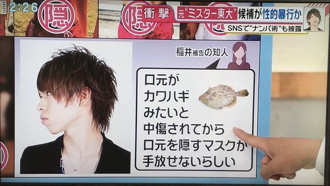 【悲報】ミスター東大候補・稲井くん、TVで顔写真とカワハギを並べられ落ち込んでいた