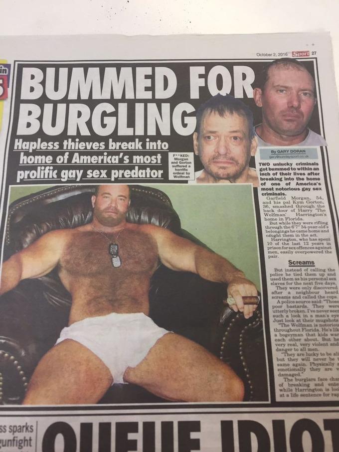 ゲイの家に侵入した2人組泥棒、地下室に監禁され5日間レ○プされまくった挙句逮捕