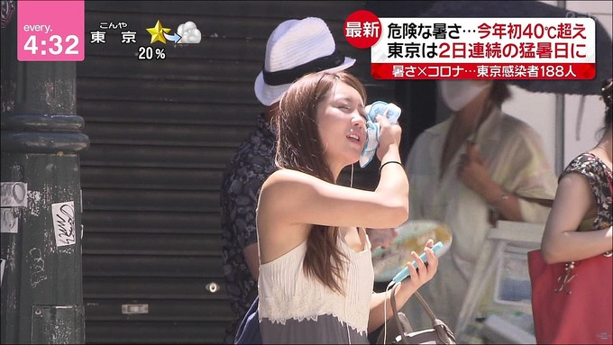 【画像】日テレで一般人OLの乳首がポロリ