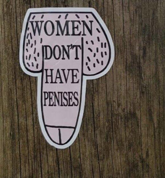 【悲報】フェミ女さん、街中の公共の場にオチ○チンシールを貼りまくってしまう