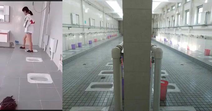 中国の中学校の女子トイレがあまりにもエッチ過ぎると話題に