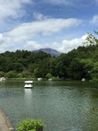 塩沢湖と浅間山