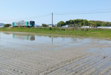 JR牟岐線&田園0421