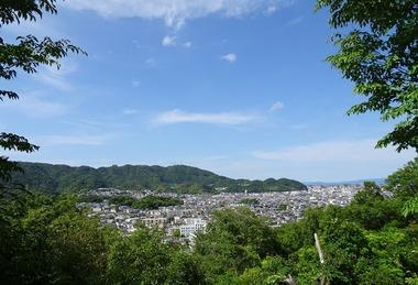 徳島市街と眉山