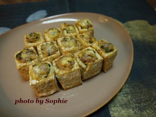 豆腐の豚挽肉詰め