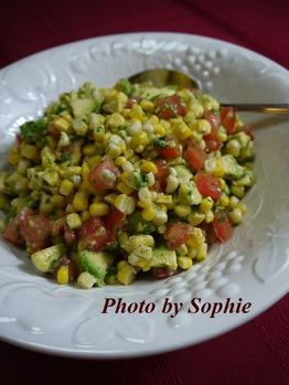トウモロコシのサラダ・ライムドレッシング和え