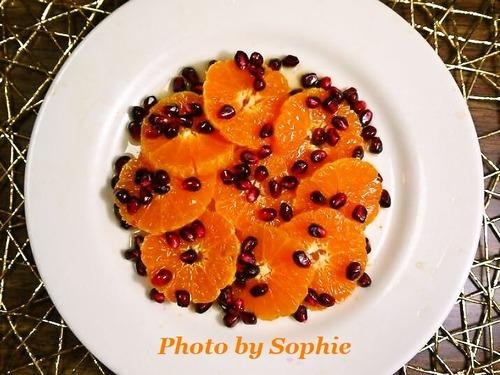 オレンジと石榴の蜂蜜入りサラダ