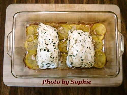 サーモンとポテトのキャセロールのレシピ