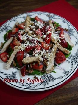 チキンとストロベリーのサラダ