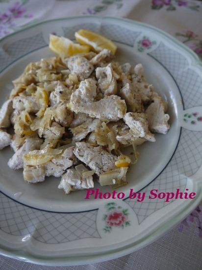 チキンとマイヤーレモンのソテー
