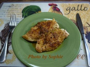 鶏胸肉のタラゴンソテー