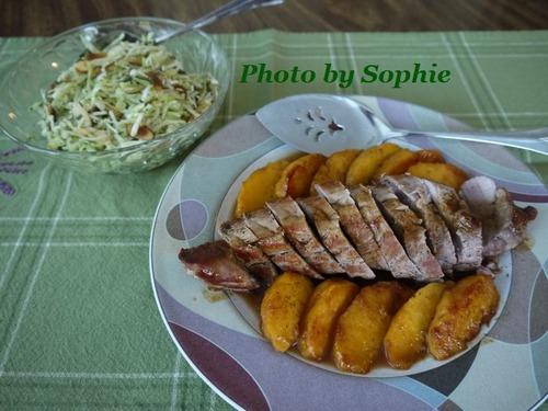 豚ヒレ肉のバーボンピーチソース