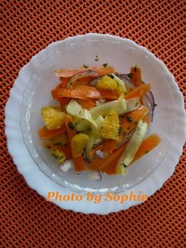 きゅうりと人参とオレンジのサラダ