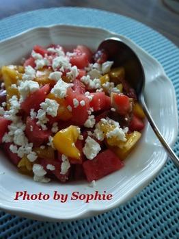 トマトと西瓜のサラダ
