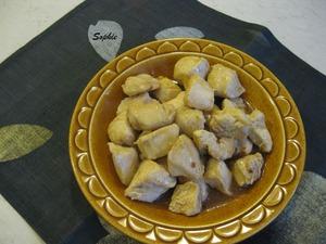 鶏肉のレモンソース