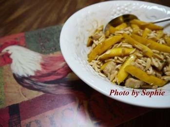 鶏胸肉とマンゴの中華炒め
