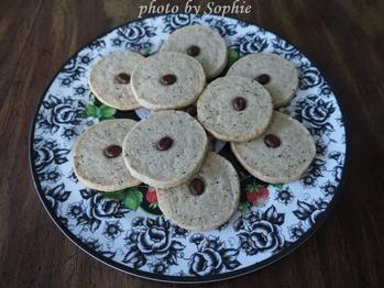 コーヒーと胡桃のクッキー