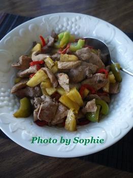 豚肉とパイナップルの中華炒め