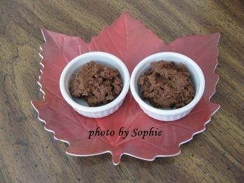 栗とチョコレートのピューレ