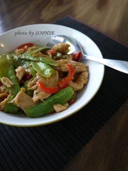 鶏胸肉の炒めもの・タイ風