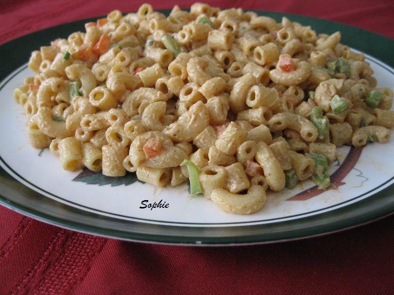 マカロニサラダ・バーベキュー風味のレシピ