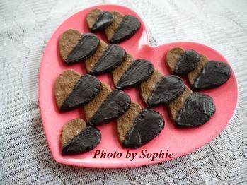 バレンタインのチョコ・ハートクッキー