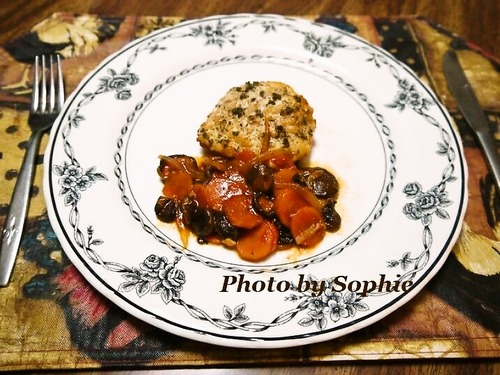 チキンとベビーポータベラの炒め物