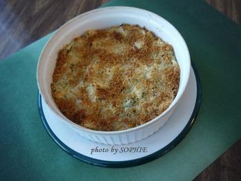 マッシュポテトのパルメザンチーズクラスト