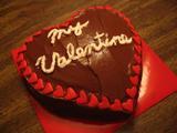ファッジフロスティングのチョコレートケーキ(マイバレンタイン)