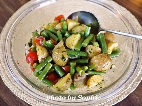 ポテトとインゲンとトマトのサラダ