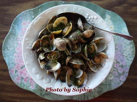 貝のハーブ蒸し煮