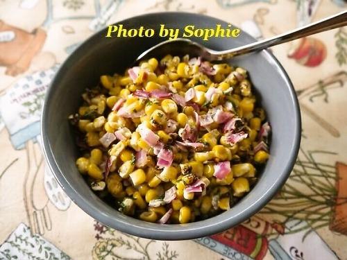 焼きコーンのスパイシーサラダ
