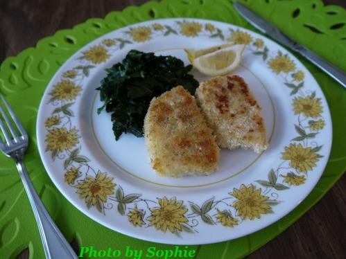 イカのステーキ・緑野菜添え