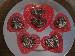 ハート型チョコレートメレンゲクッキーS
