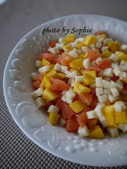 マンゴとオレンジとヒカマのサラダ