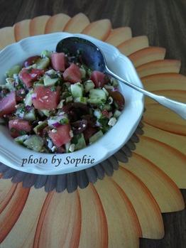 スイカときゅうりのサラダ