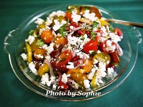 トマトと柘榴のサラダ