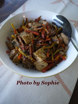 人参と豆腐の炒め物