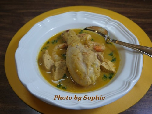 鶏と海老とナッツのシチュー