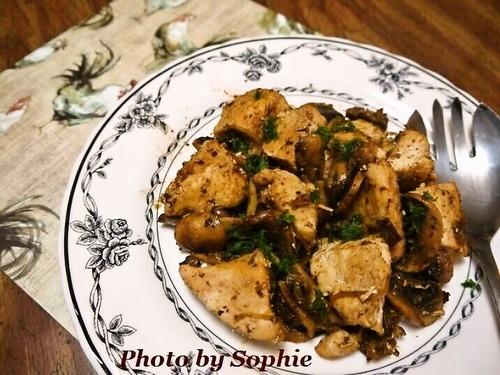 鶏肉のコチュジャン蒸焼き