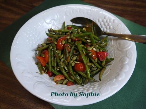 インゲン豆のトマトサルサ和え