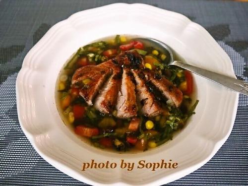マグロのスープ・コスタリカ風