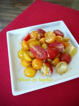 チェリートマトの2色サラダ